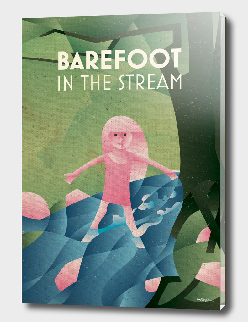 BAREFOOT IN THE STREAM