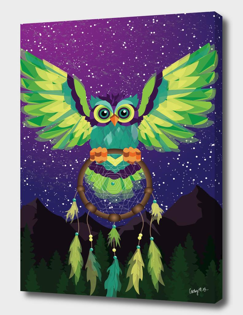 Geometric Owl & Dream Catcher