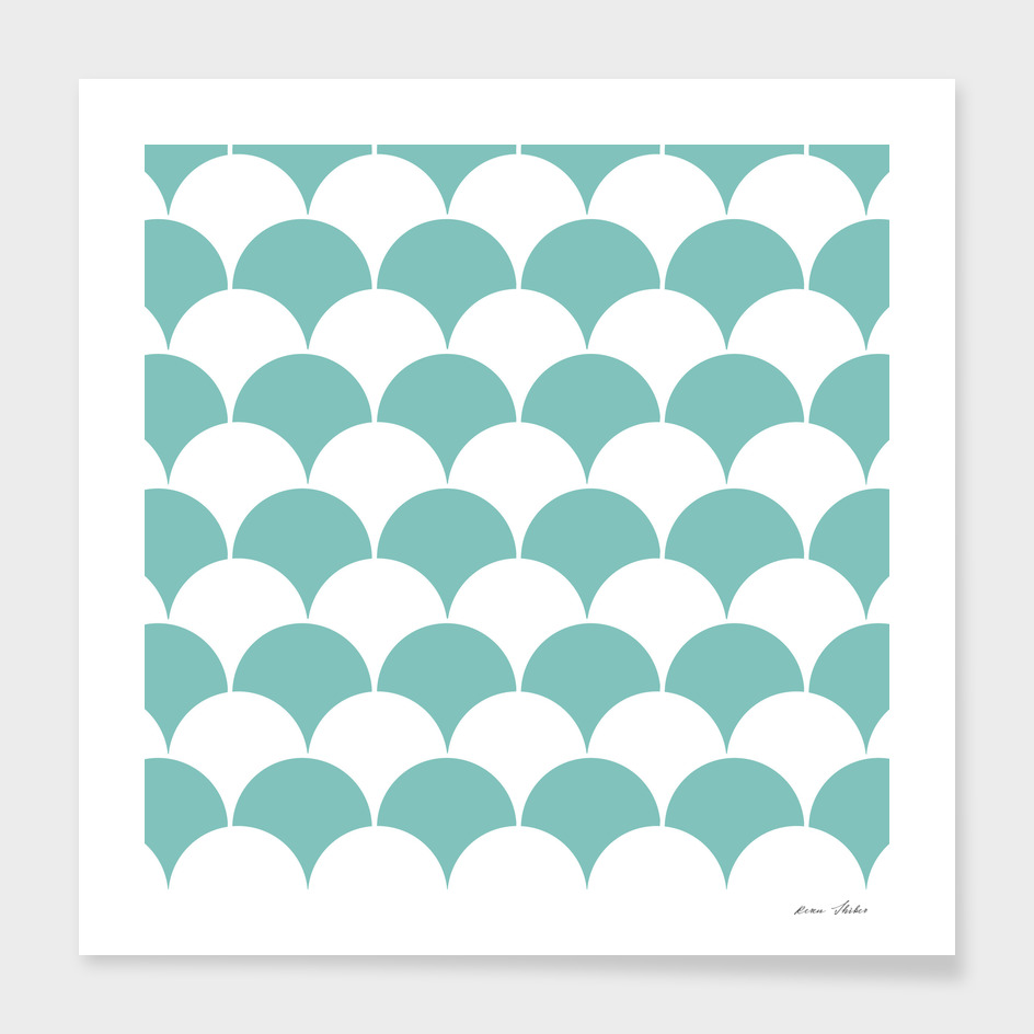 Abstract pattern - blue and white.