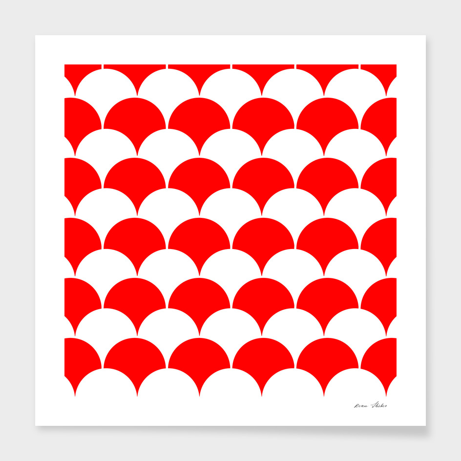 Abstract pattern - red and white.