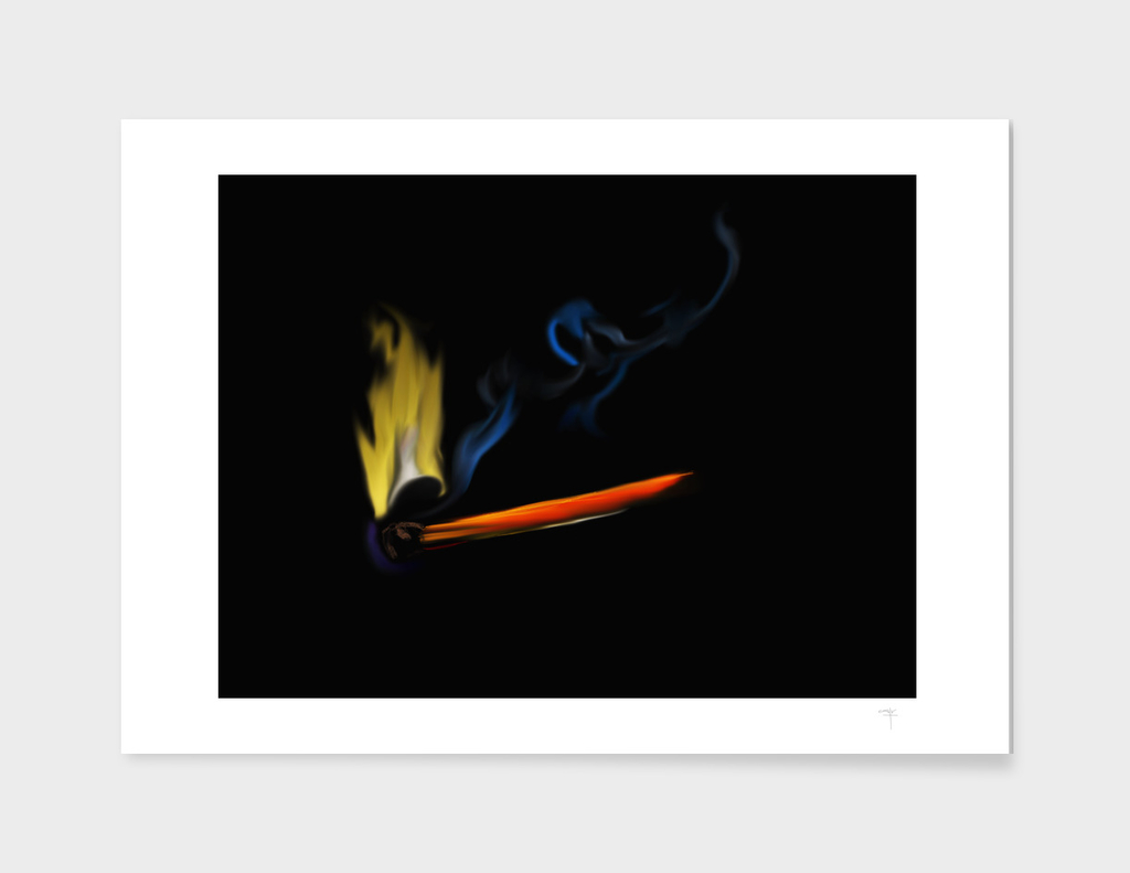 47 - matchstick and flame