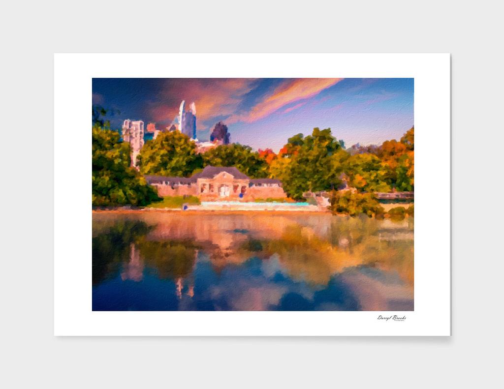 Watercolor Atlanta Skyline