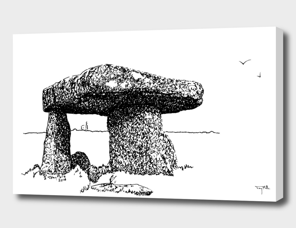 Lanyon Quoit, a stone age monument.