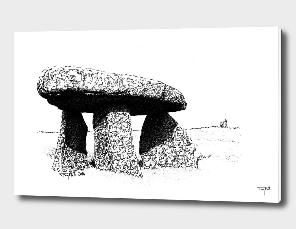 Lanyon Quoit, a neolithic stone monument.