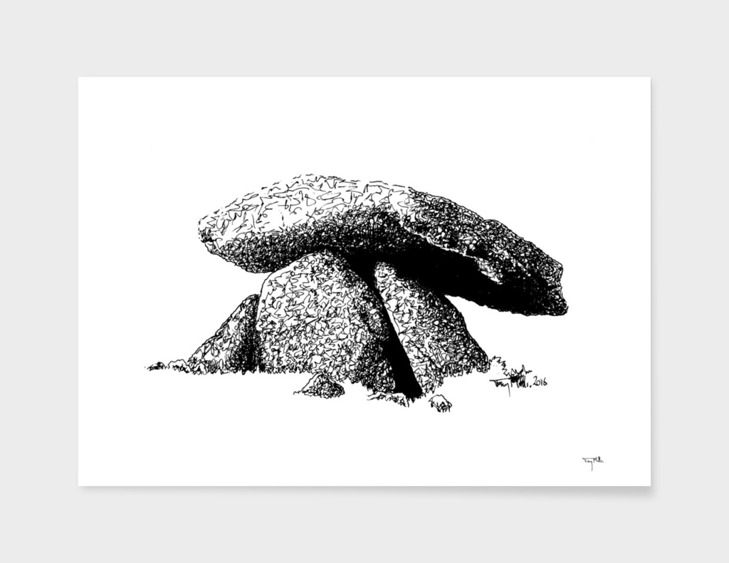 Chun Quoit, a neolithic stone monument.