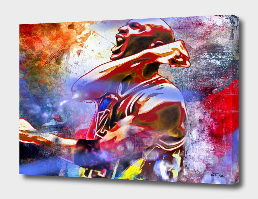 Michael Jordan Painted