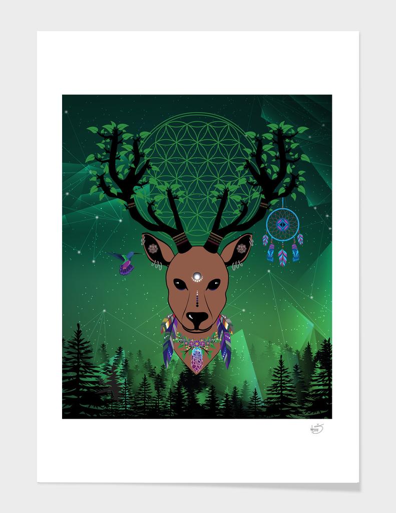 Elk totem fantasy spirit protection medicine strong animal