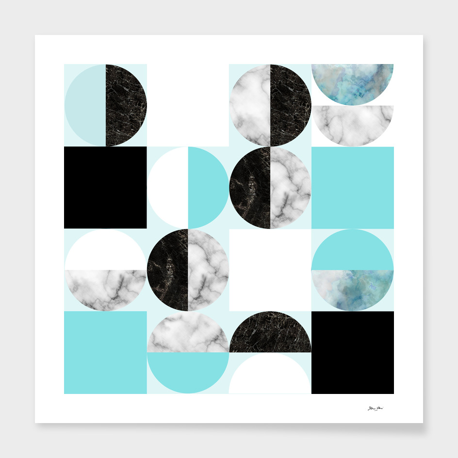 Hide and Seek Moon and Sun Geometric Pattern