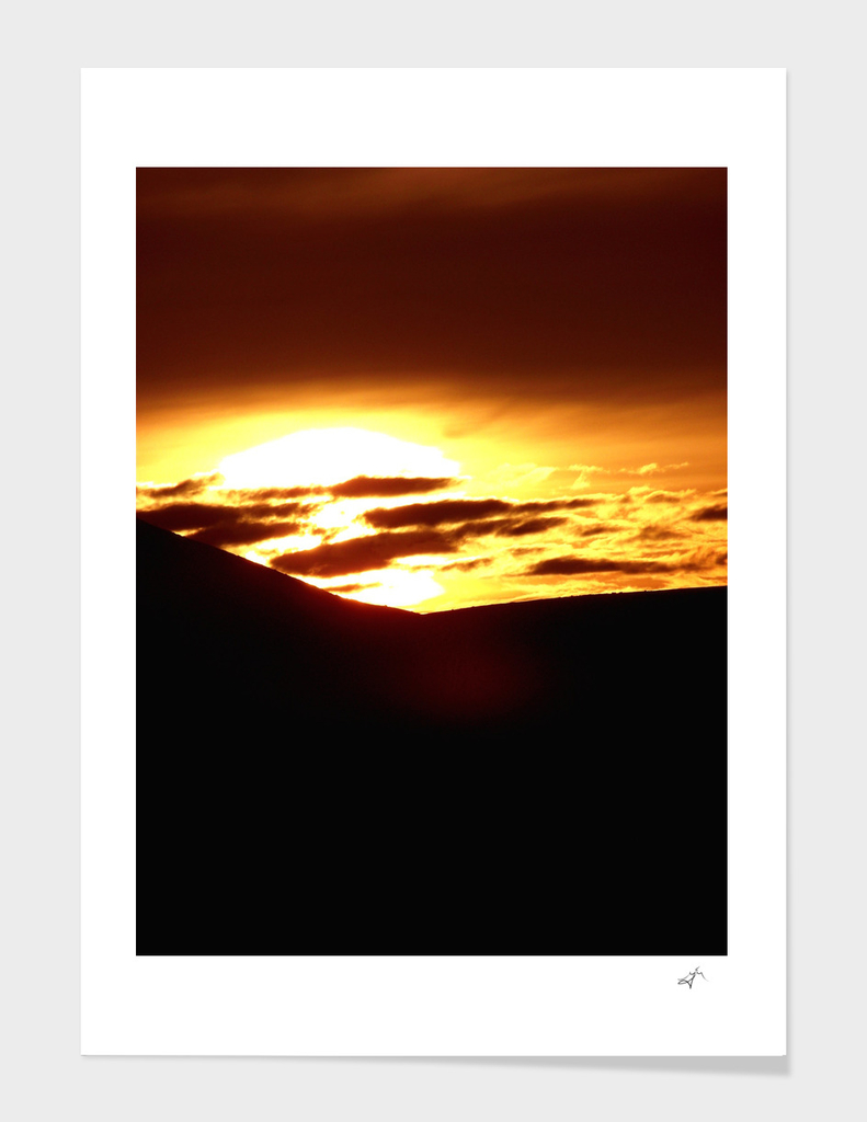 Sunset at Pendle Hill