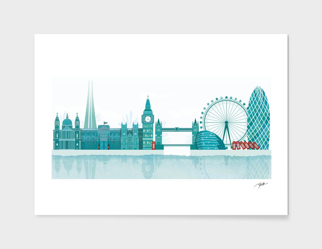 London skyline_Green