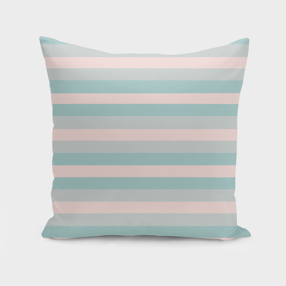 Dusty Teal and Dusty Rose Stripes