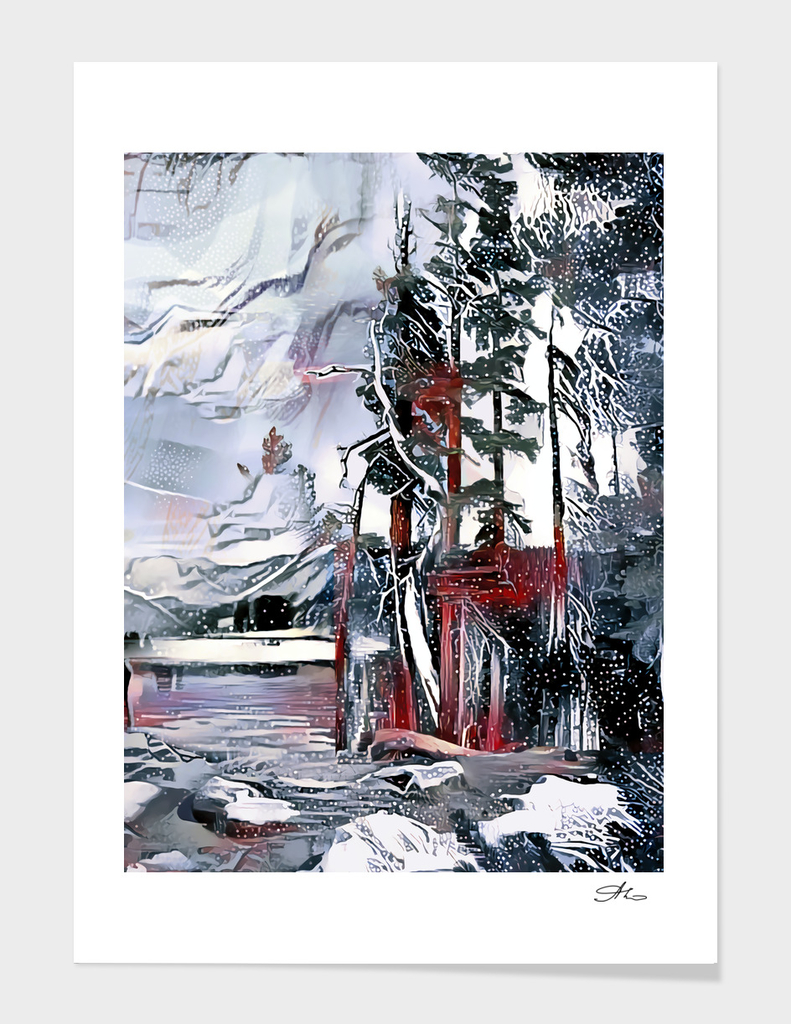 Winter Lake Scenery