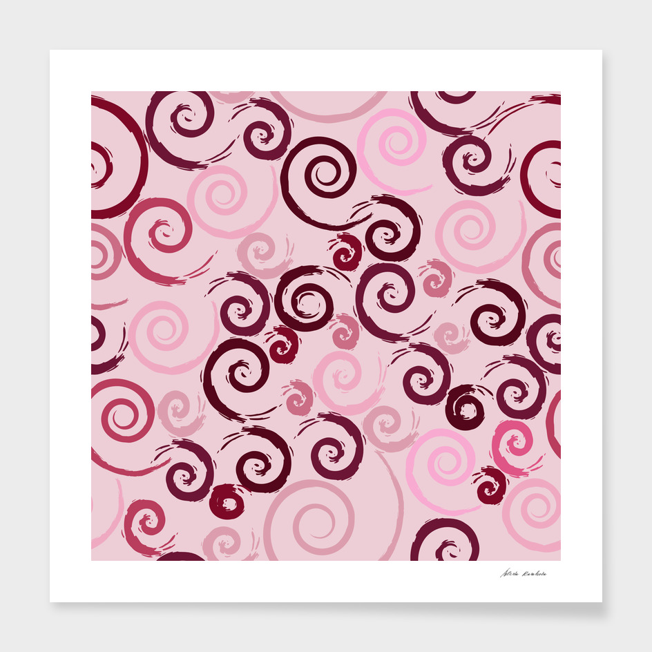 Red Pink Swirls
