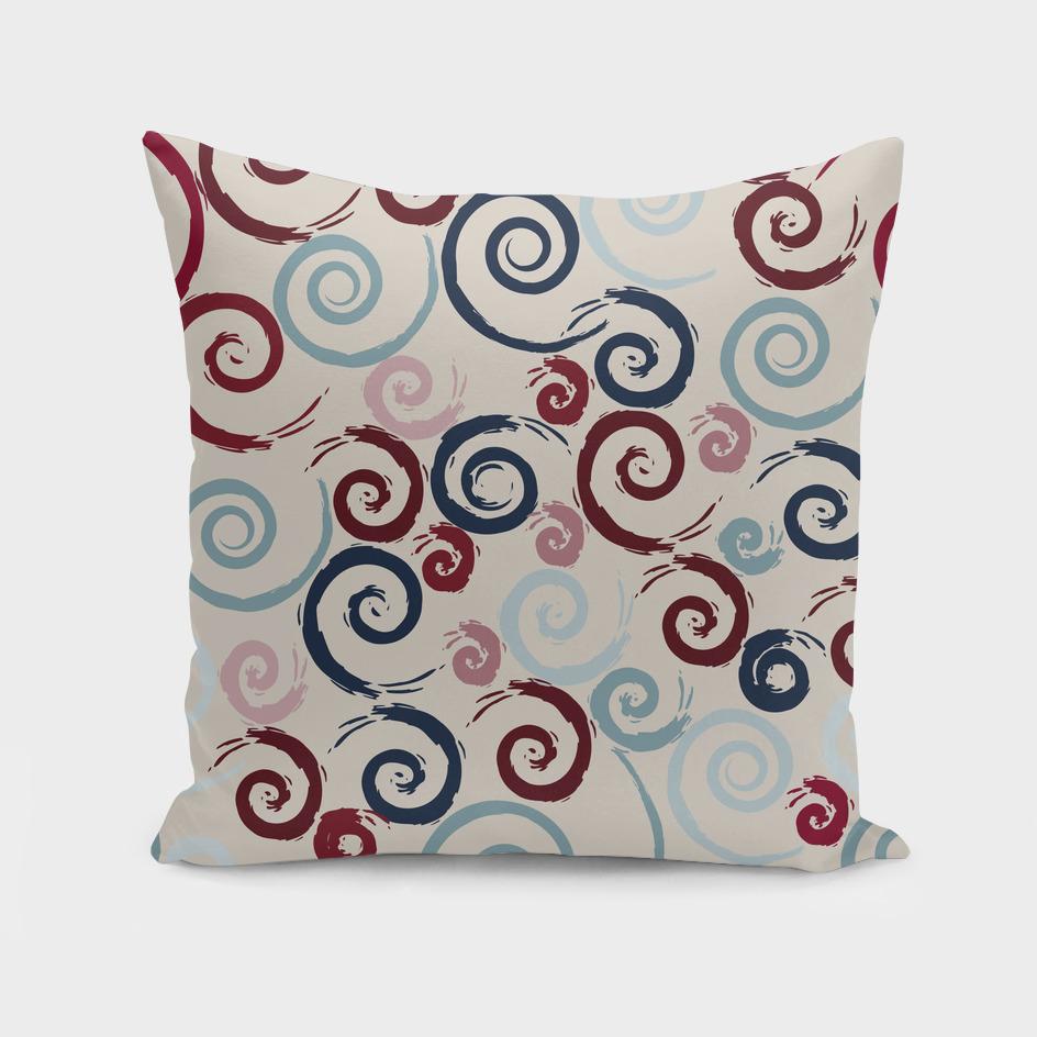 Red and Blue Swirls