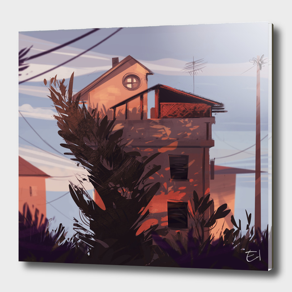 Home at Sunset VARIANT