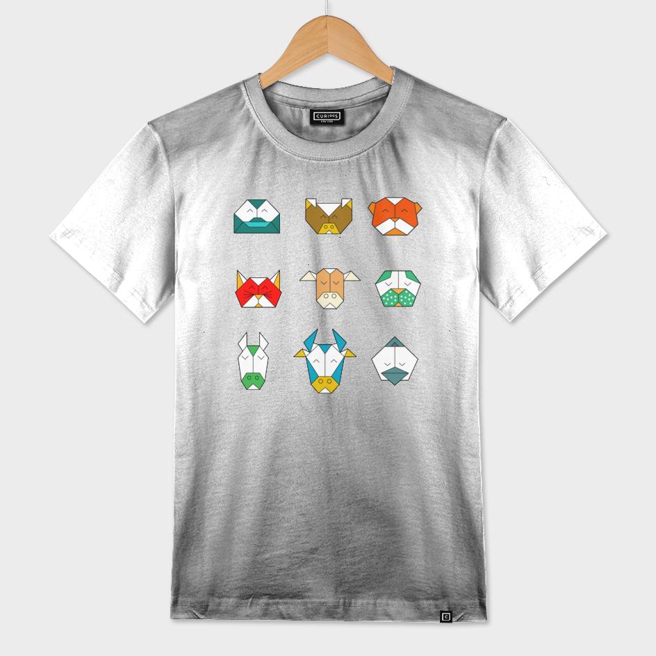 stylized geometric animals