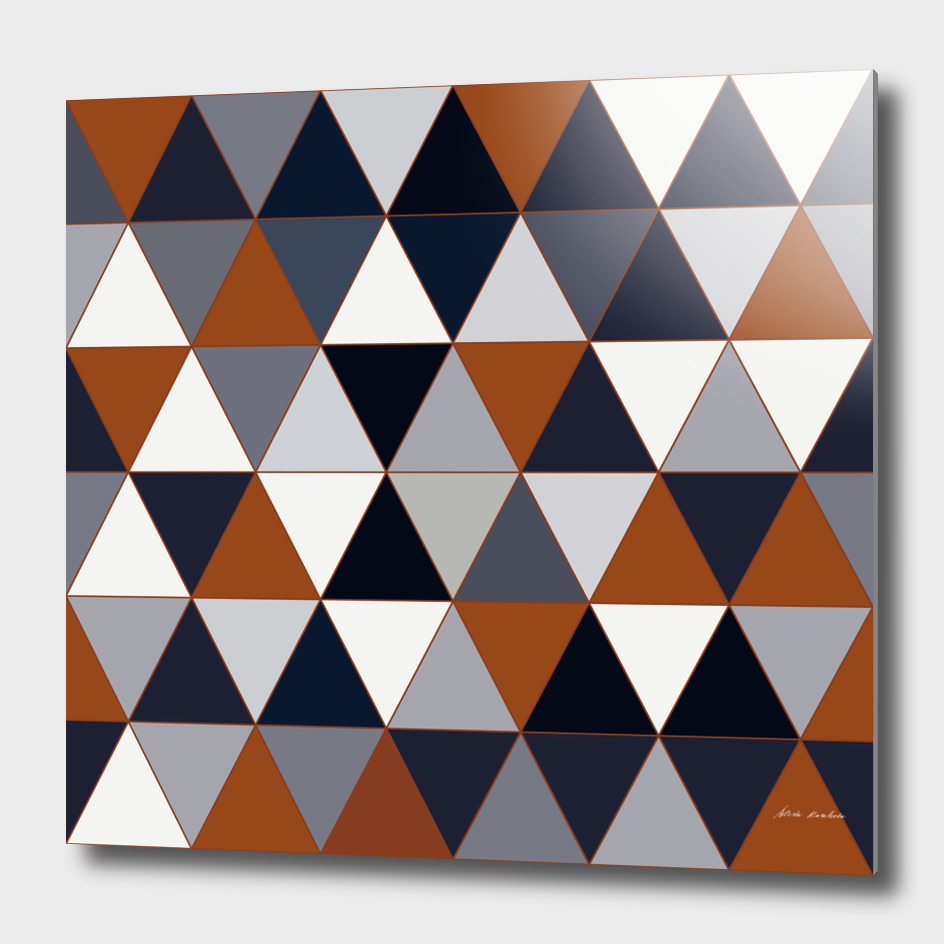 Navy and Rust Triangles II