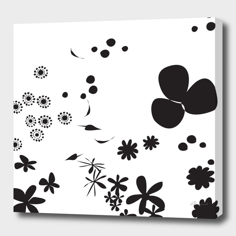 Flowers - BLACKwhite