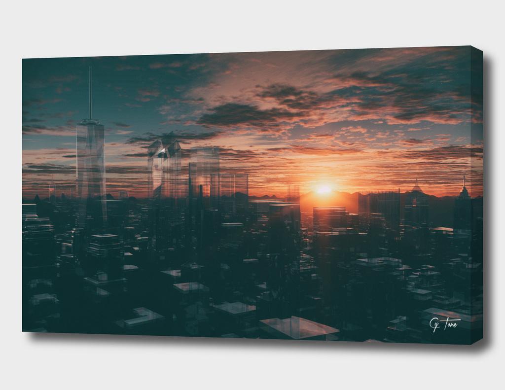 Glass NYC Skyline