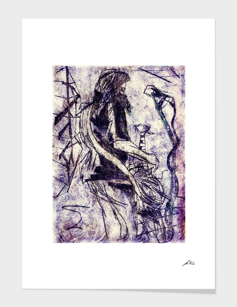 Contortionist Etching