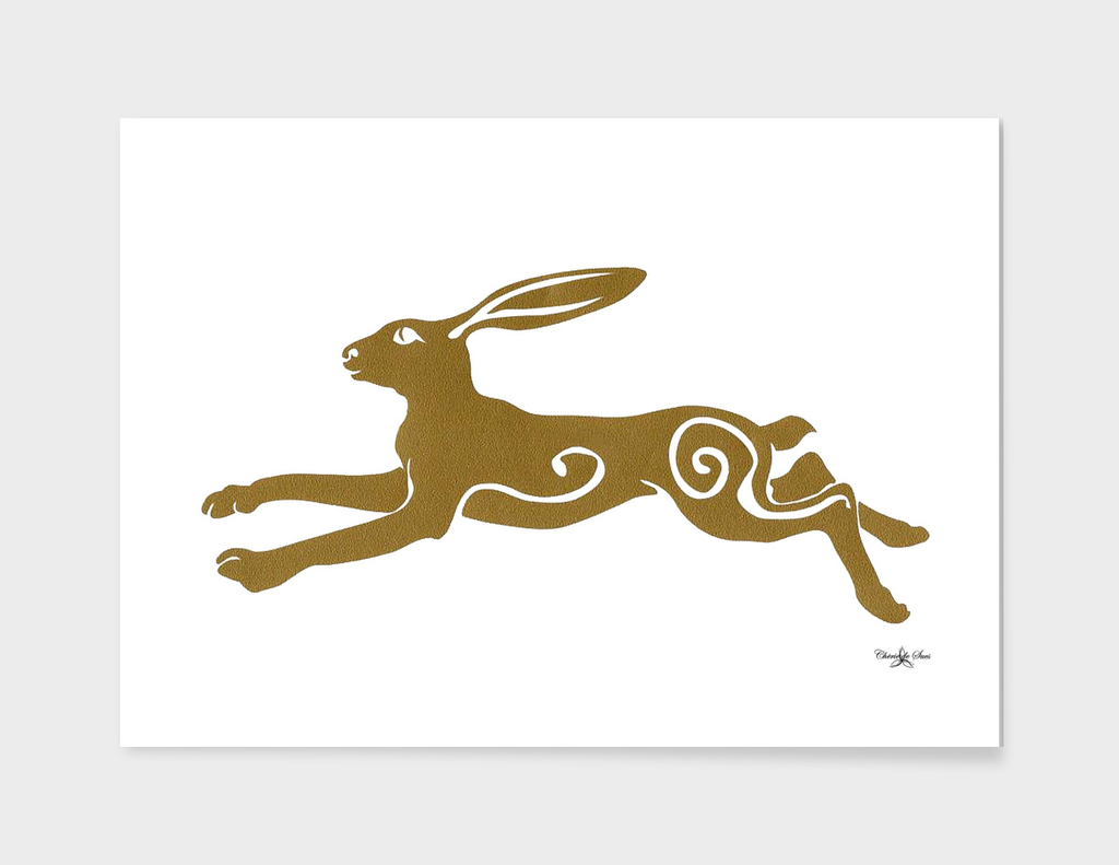 Leaping Golden Hare