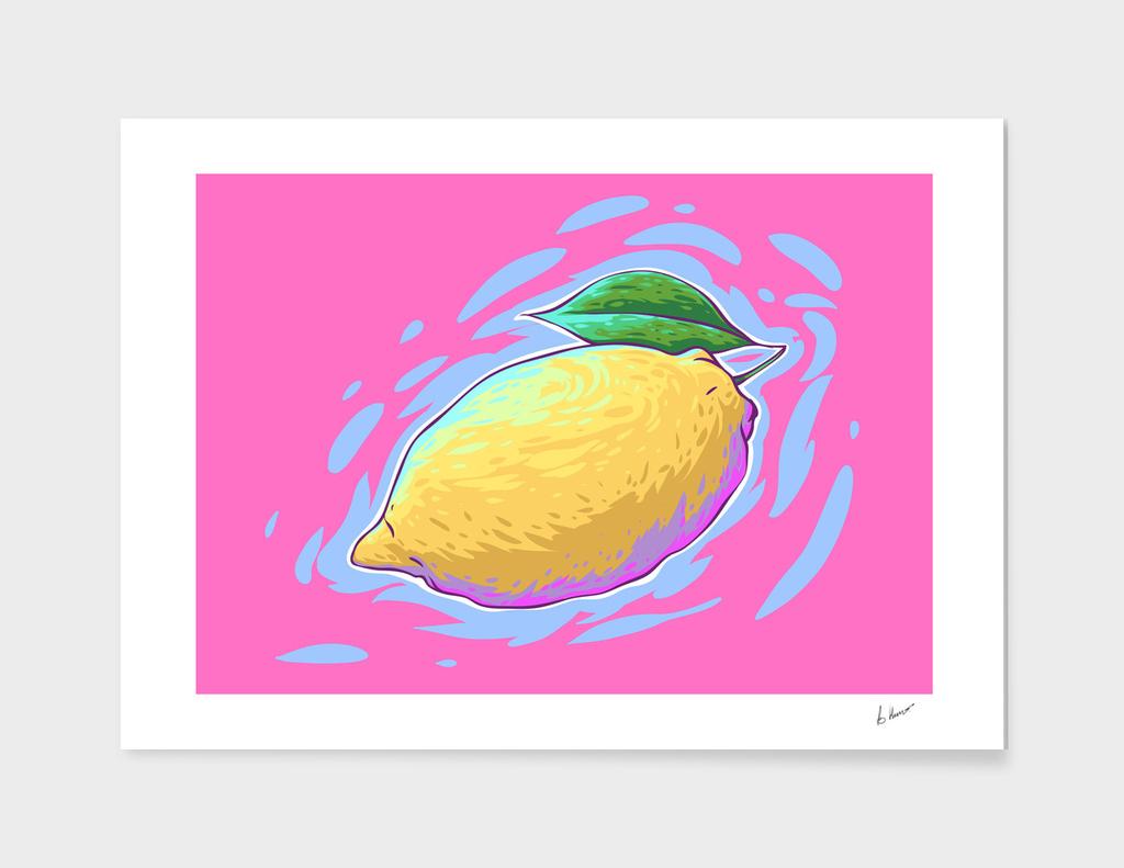 Lemon comic vector art.
