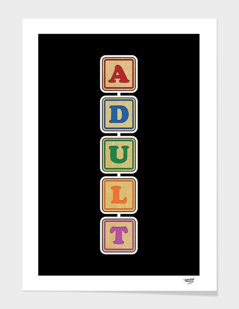 All grown up letter blocks