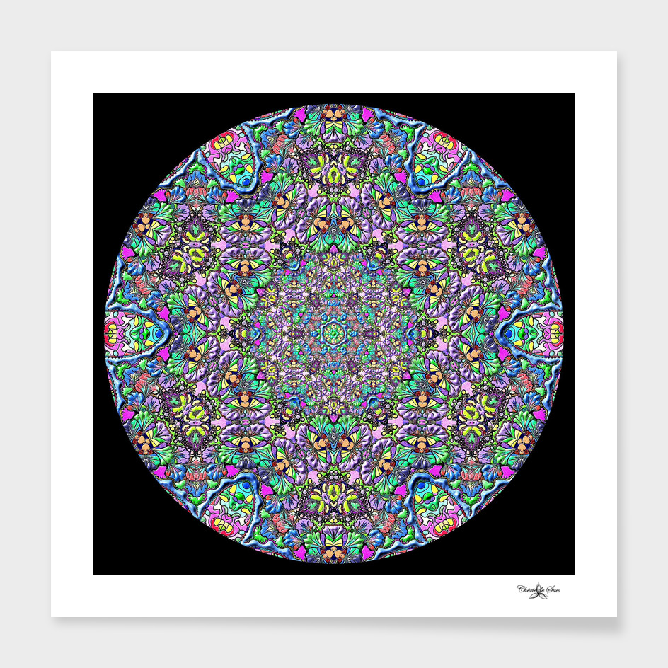 Mandala Circle Of Colored Glass