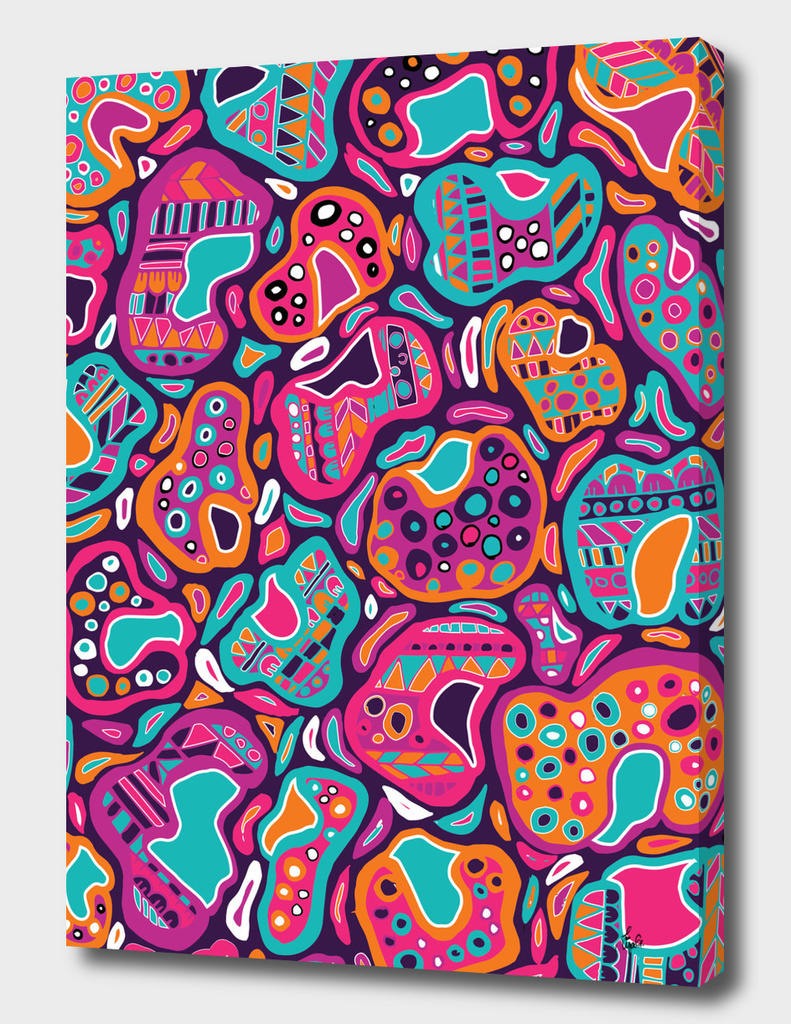 Leopard Print Aztec Pattern