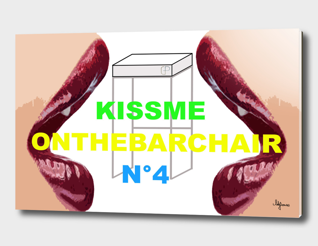kiss me on the bar chair number 4
