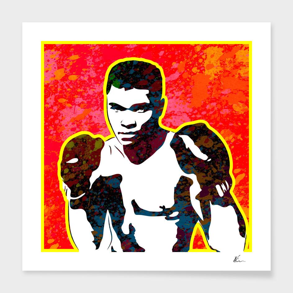 Muhammad Ali | Splatter Series | Pop Art