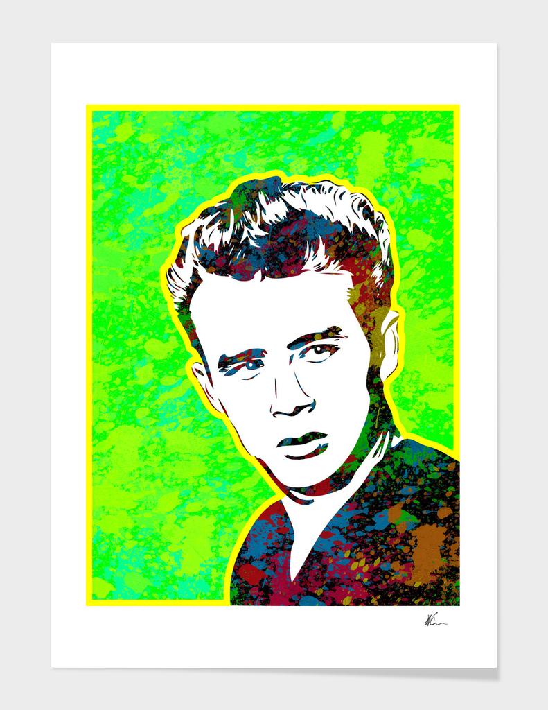 James Dean | Splatter Series | Pop Art | Green