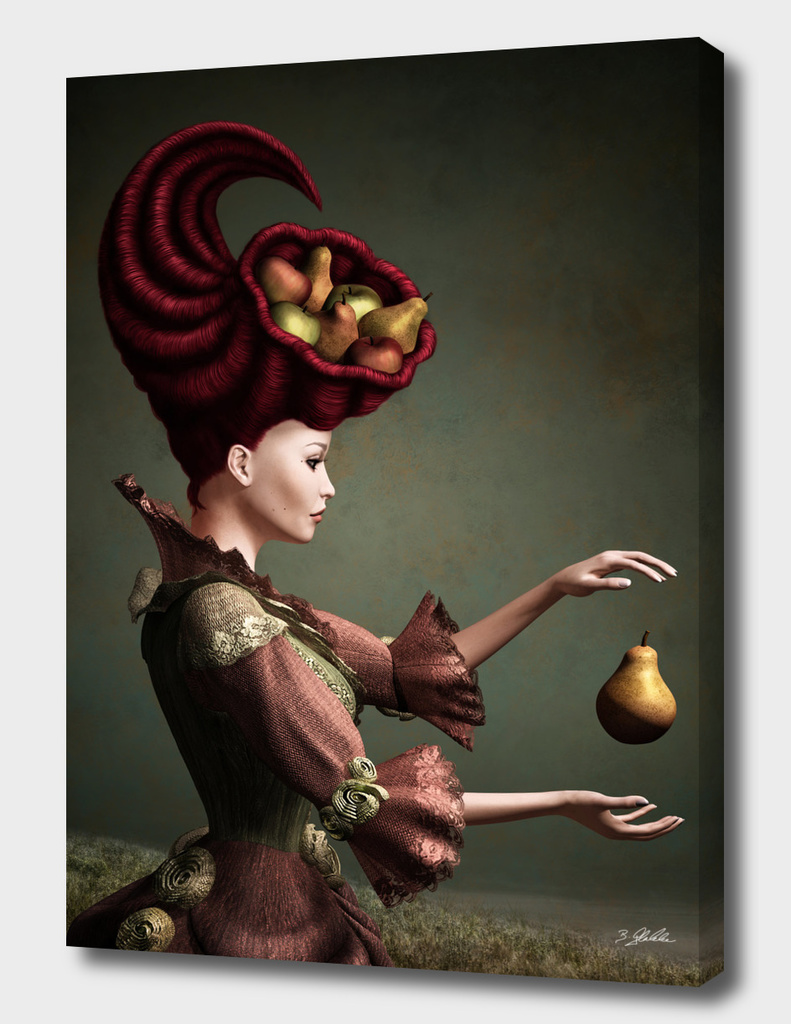 Madame Fruit and the levitating pear