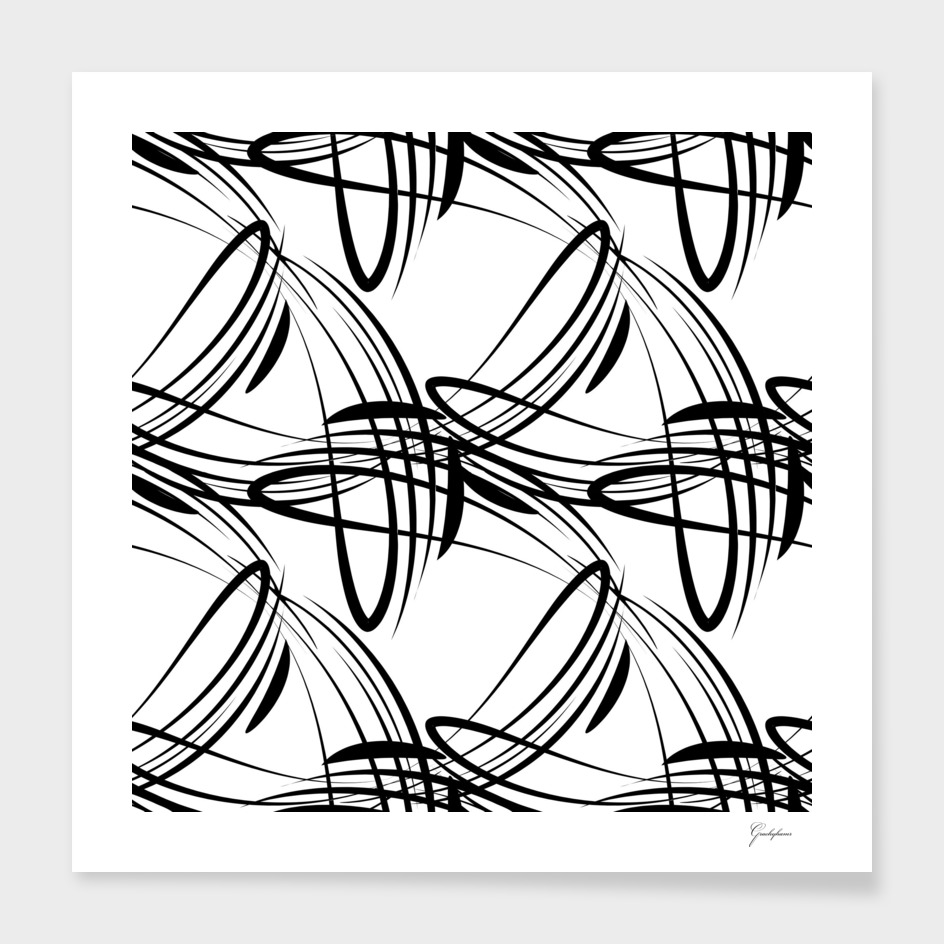 Pattern from black lines on a white background in vintage