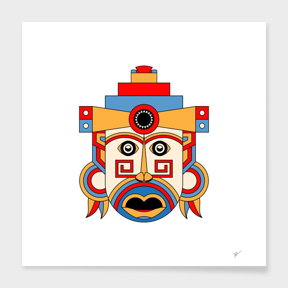 geometric tribe mask