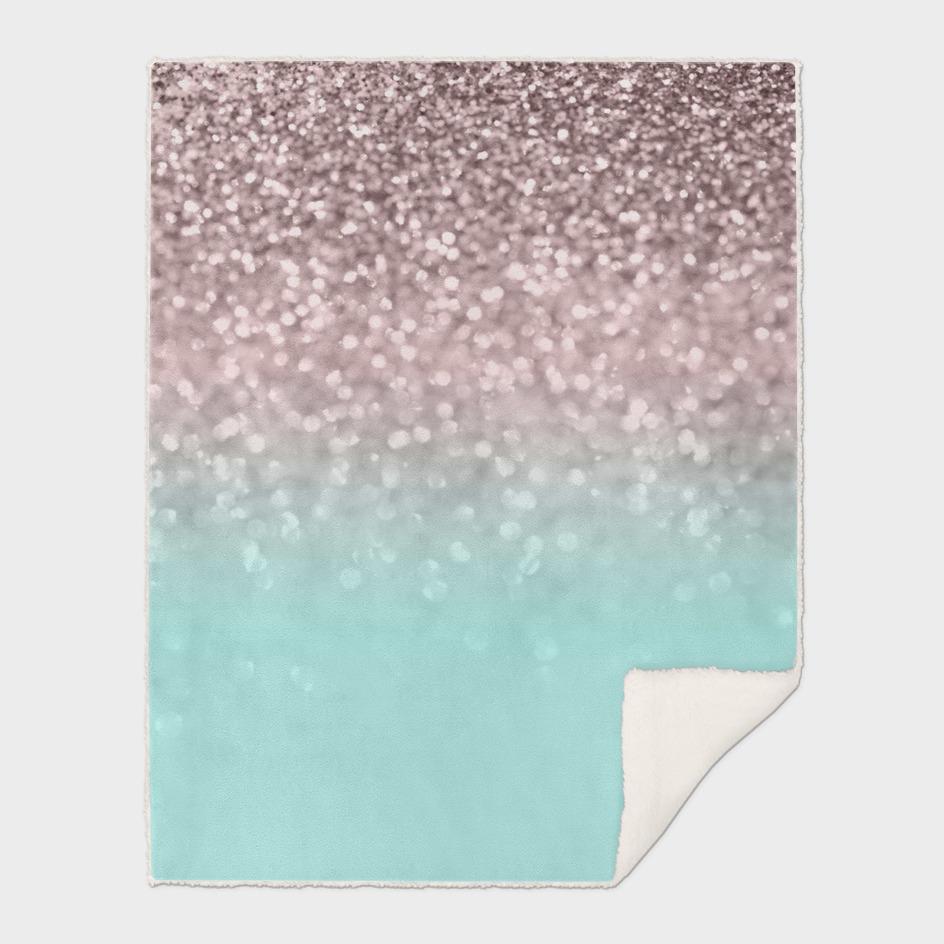 Sparkling Rose Gold Blush Aqua Glitter Glam #1 #shiny #decor