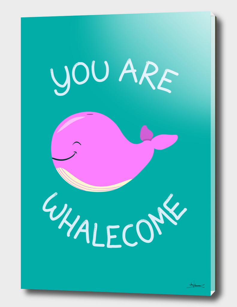 Whale, thank you! - Pink Version
