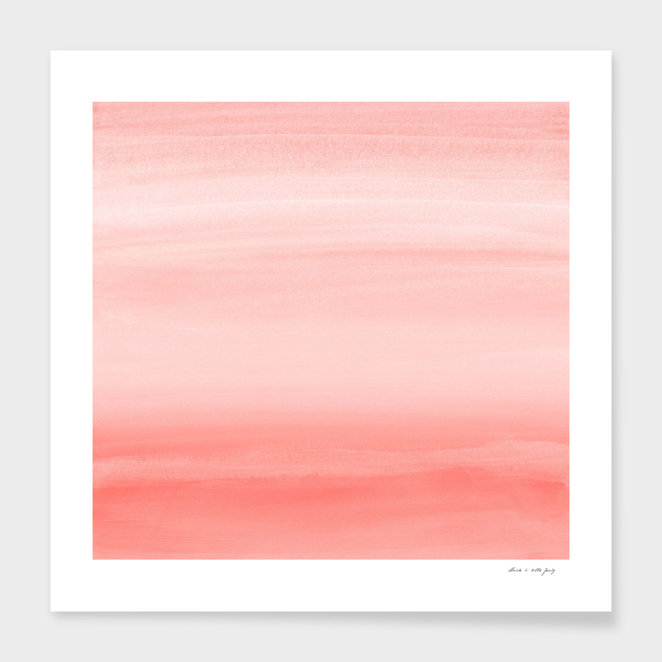 Touching Living Coral Watercolor Abstract #1 #painting