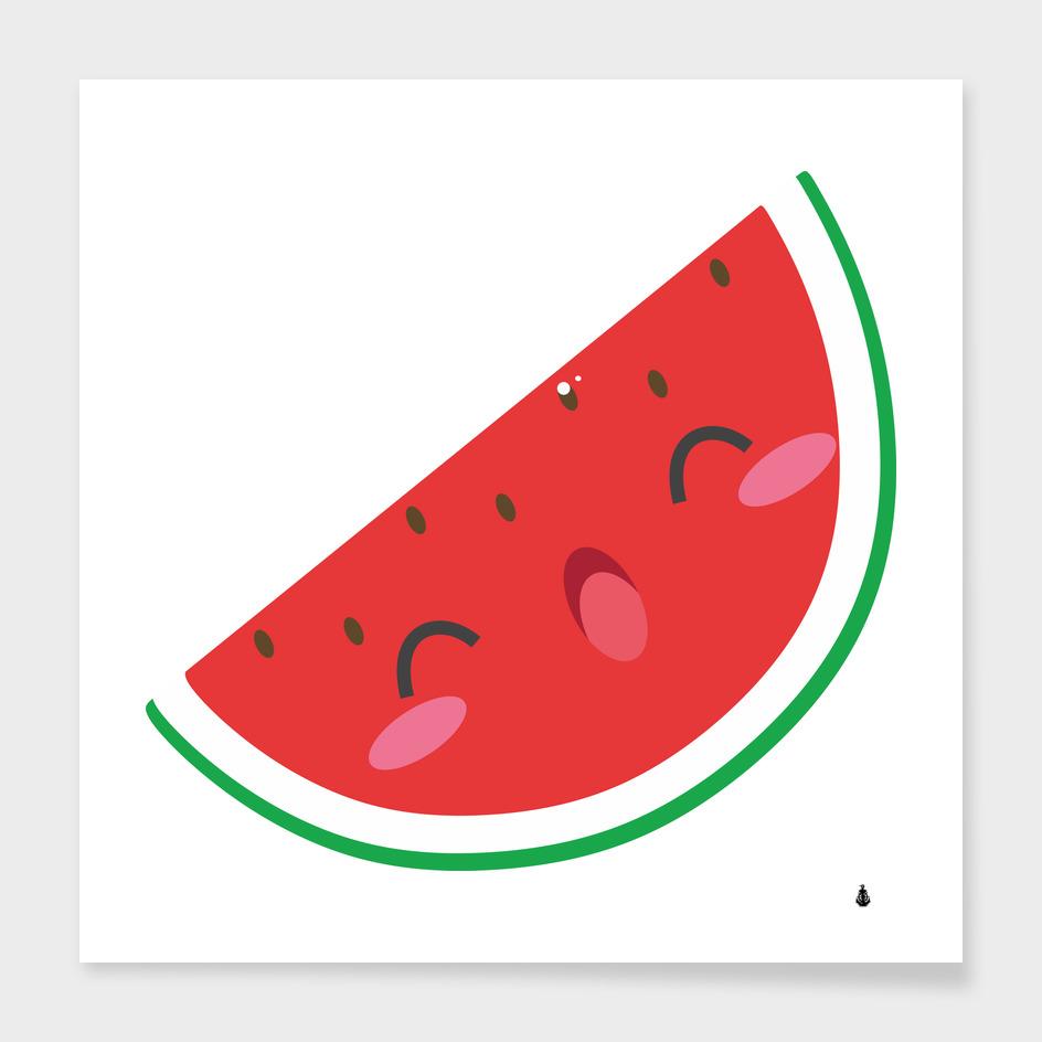 Watermelon red network fruit juicy