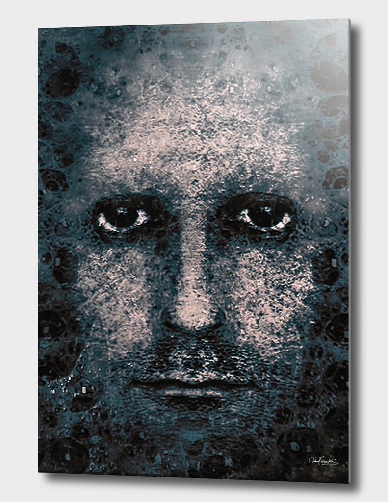 Foam Man Photo Manipulation Poster