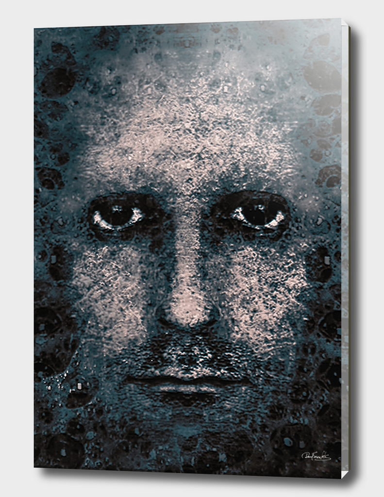 Foam Man Photo Manipulation Poster