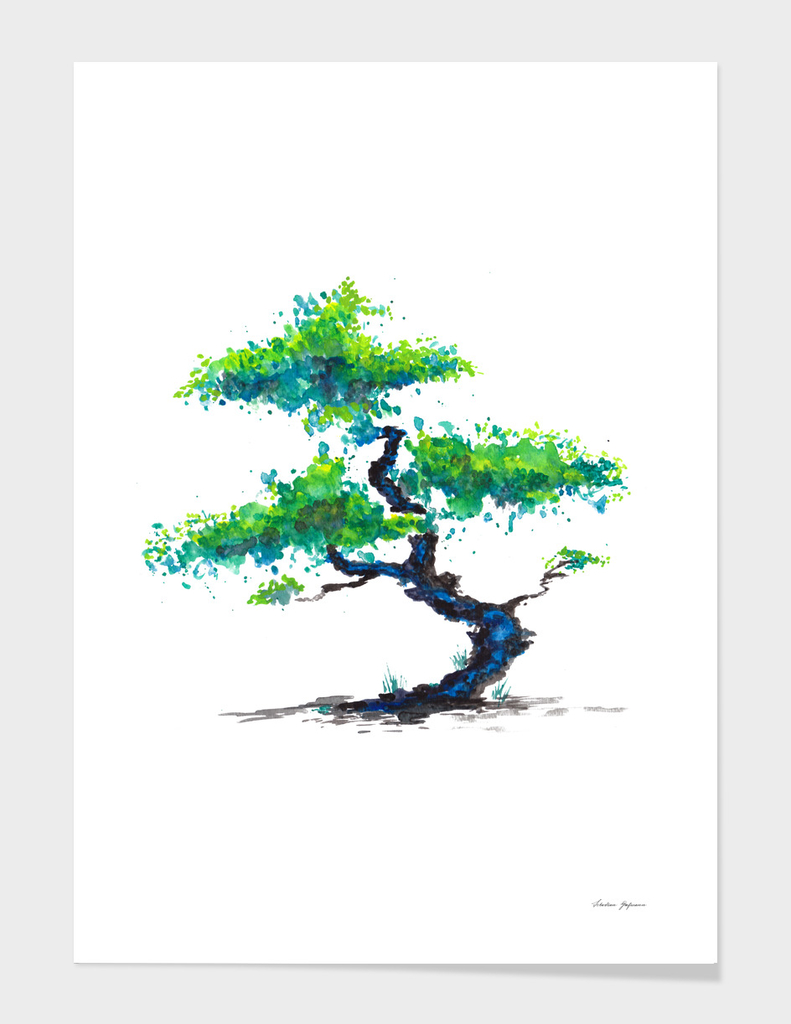 Blue Bonsai
