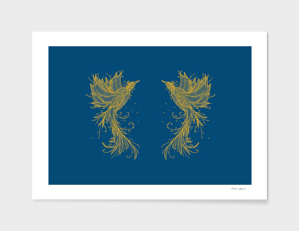 Golden Phoenix Twins Blue