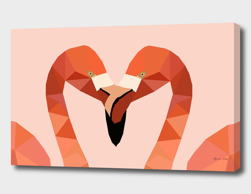 Flamingo Bird LOW POLY ART