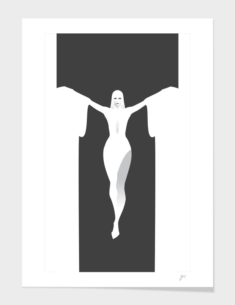 The Wicked White Witch Art Print By Wicked Vector Curioos