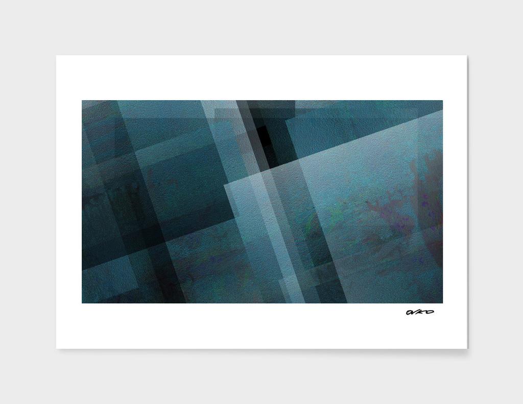Blends of Blue - Digital Geometric Texture