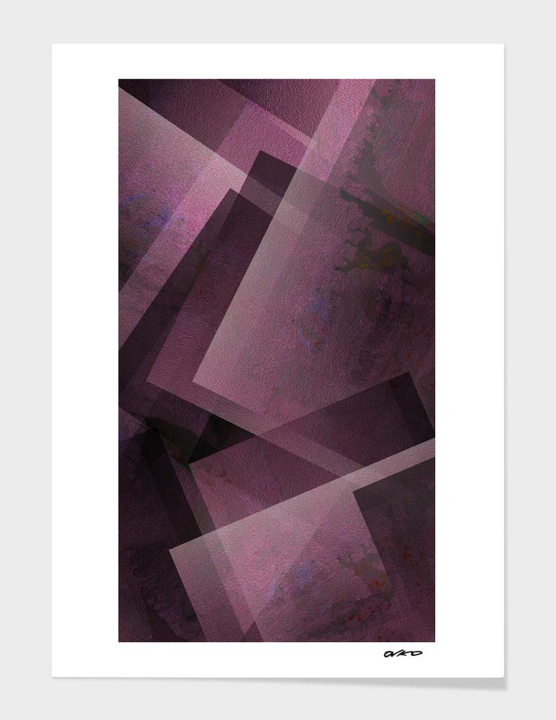 Posh Pink - Digital Geometric Texture