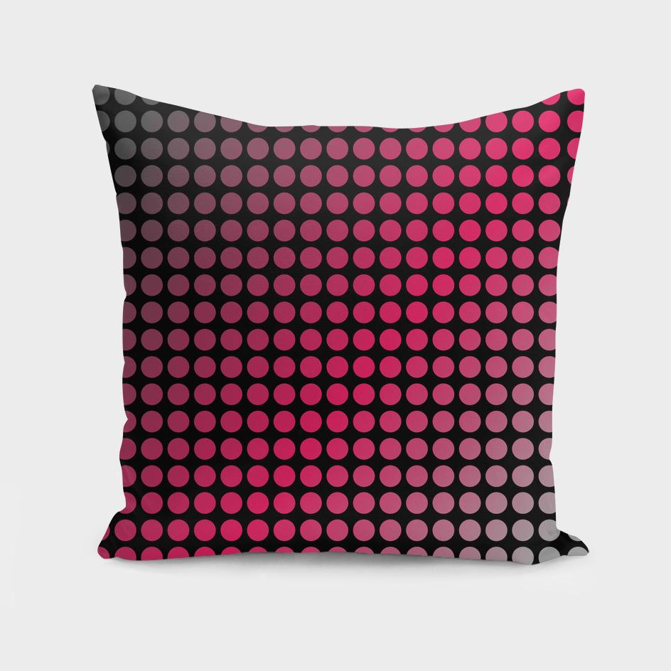 Vibrant pink polka dots or halftone pattern