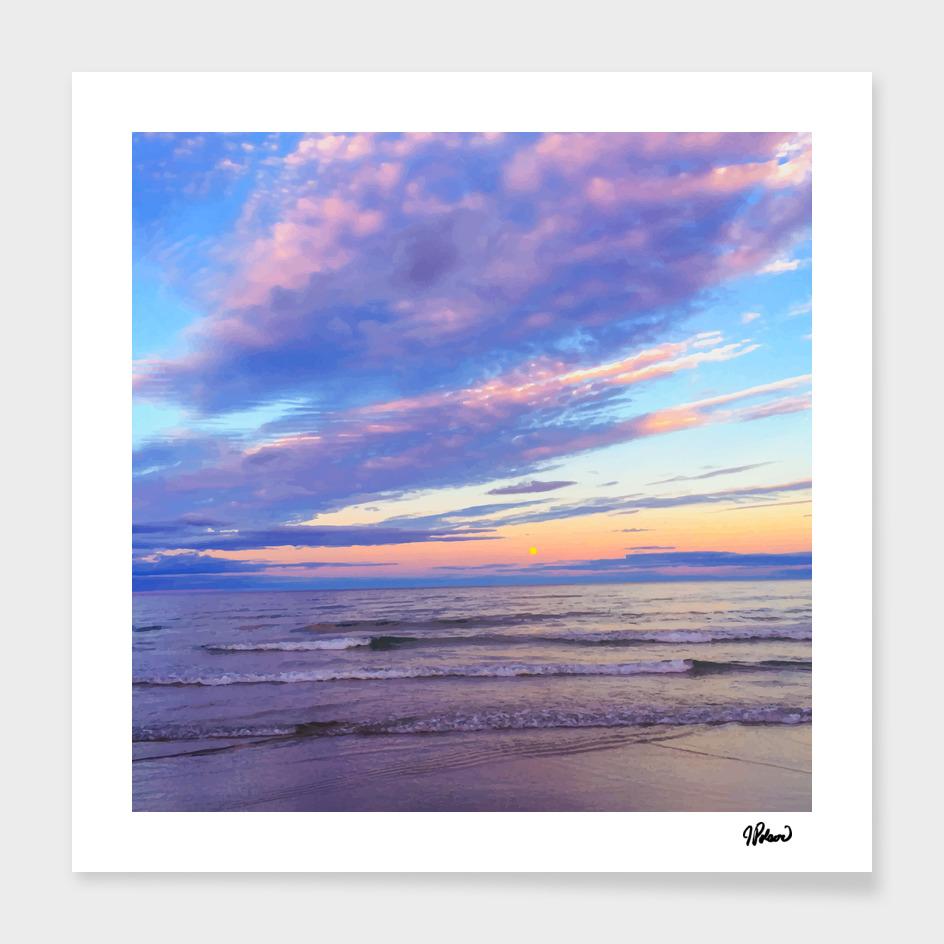 Sunset on Ogunquit Beach