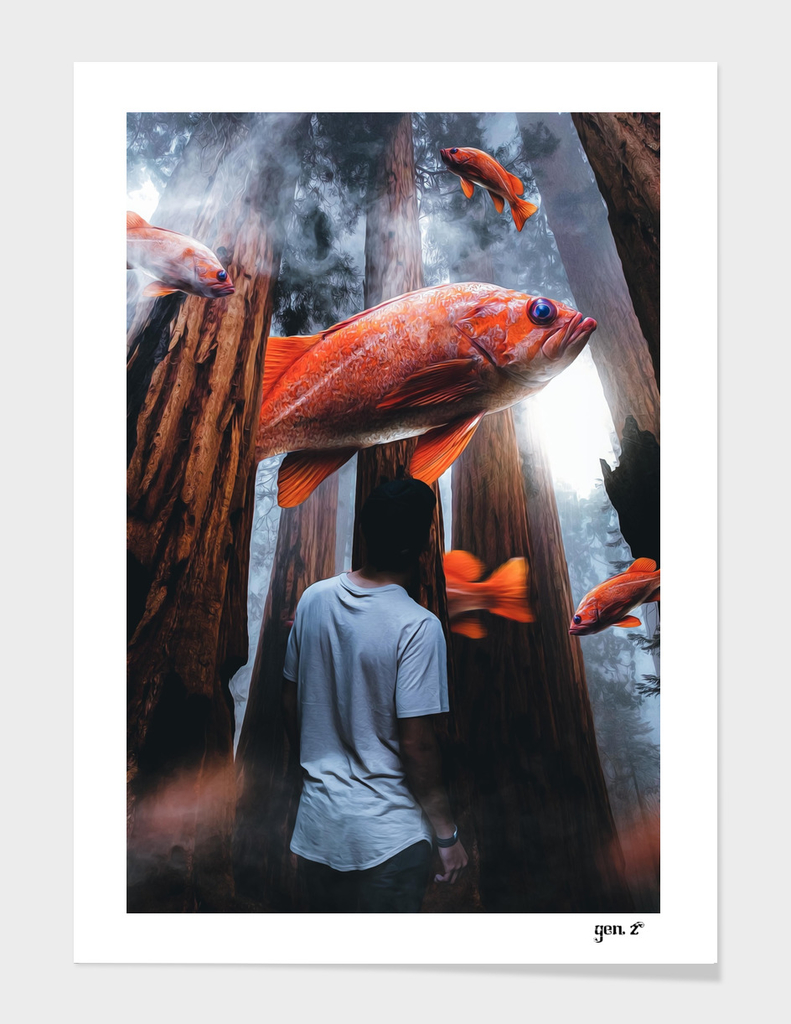 Goldfish in the forest by GEN Z